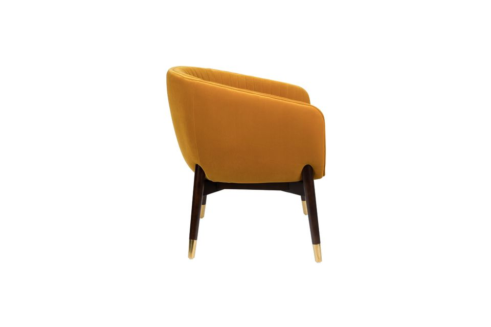 Fauteuil lounge Dolly ocre - 8