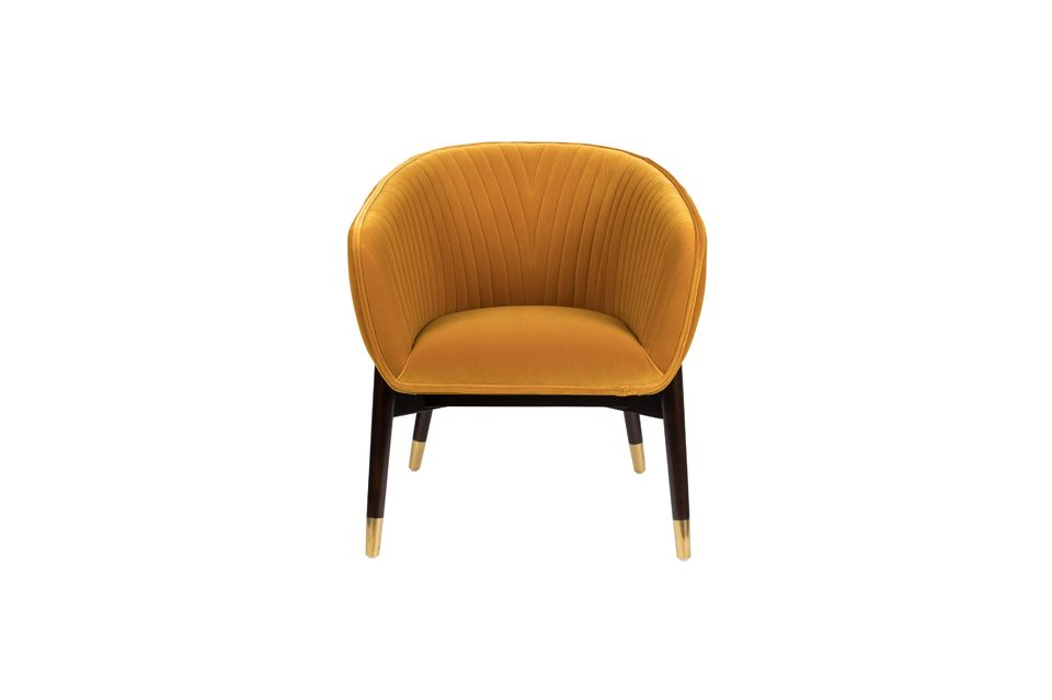 Fauteuil lounge Dolly ocre - 9