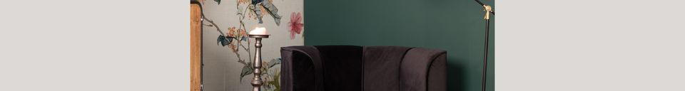 Mise en avant matière Fauteuil lounge Fleur Noir