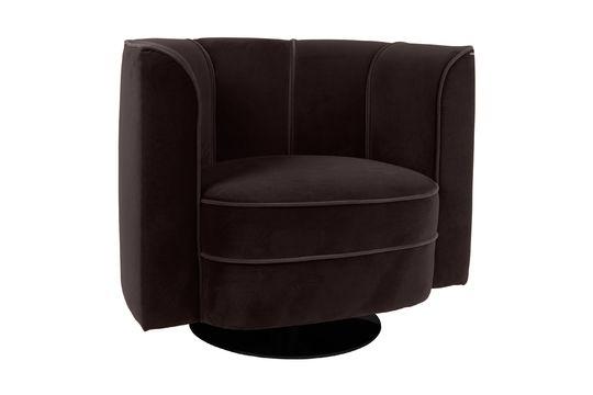 Fauteuil lounge Fleur Noir