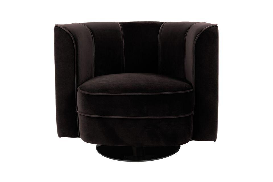 Fauteuil lounge Fleur Noir - 6