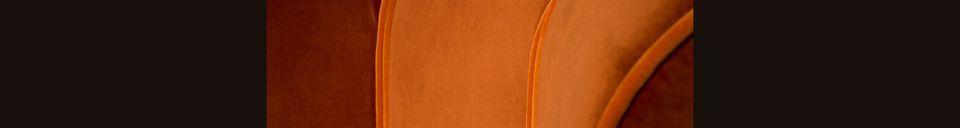 Mise en avant matière Fauteuil lounge Fleur orange