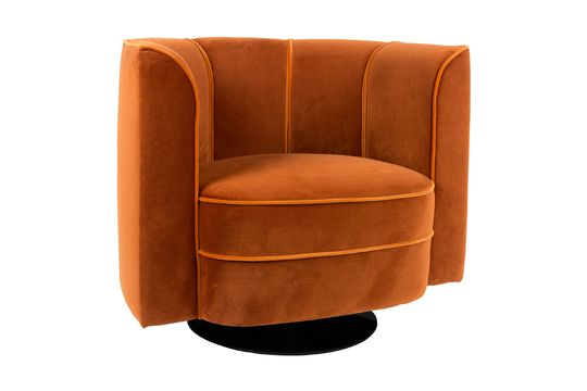 Fauteuil lounge Fleur orange Détouré