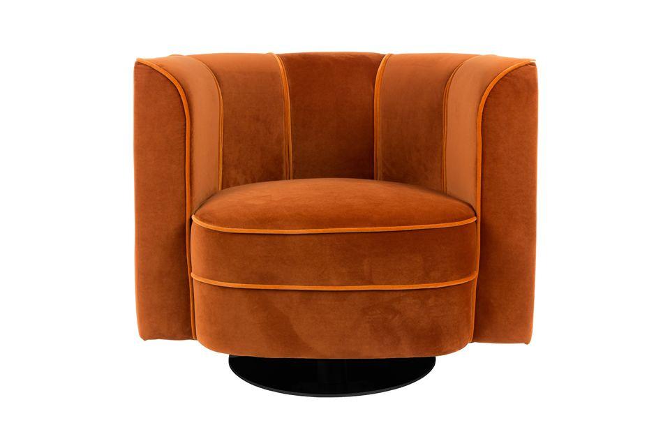 Fauteuil lounge Fleur orange - 8