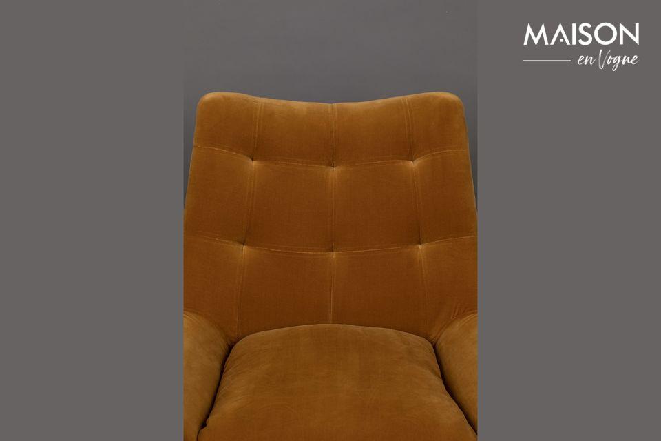Le côté vintage du fauteuil
