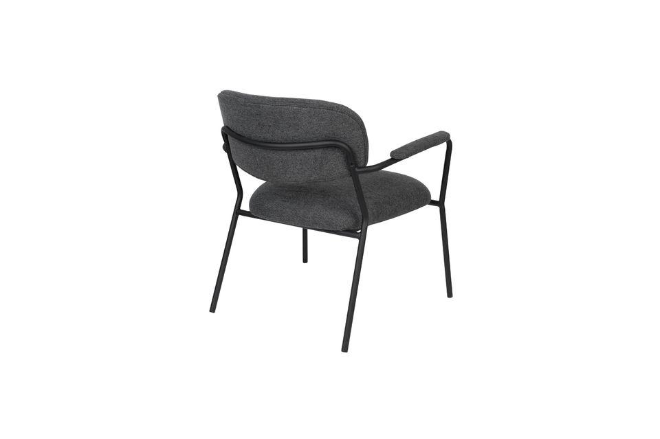 Fauteuil lounge Jolien gris foncé - 8