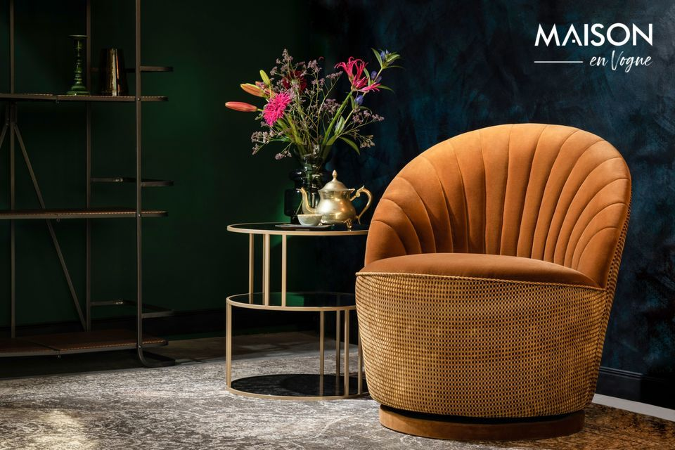 Fauteuil lounge Madisson couleur whisky