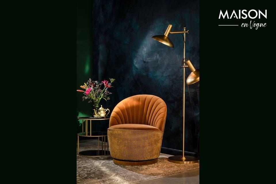 On croirait ce fauteuil sorti directement d\'un boudoir parisien des années 20