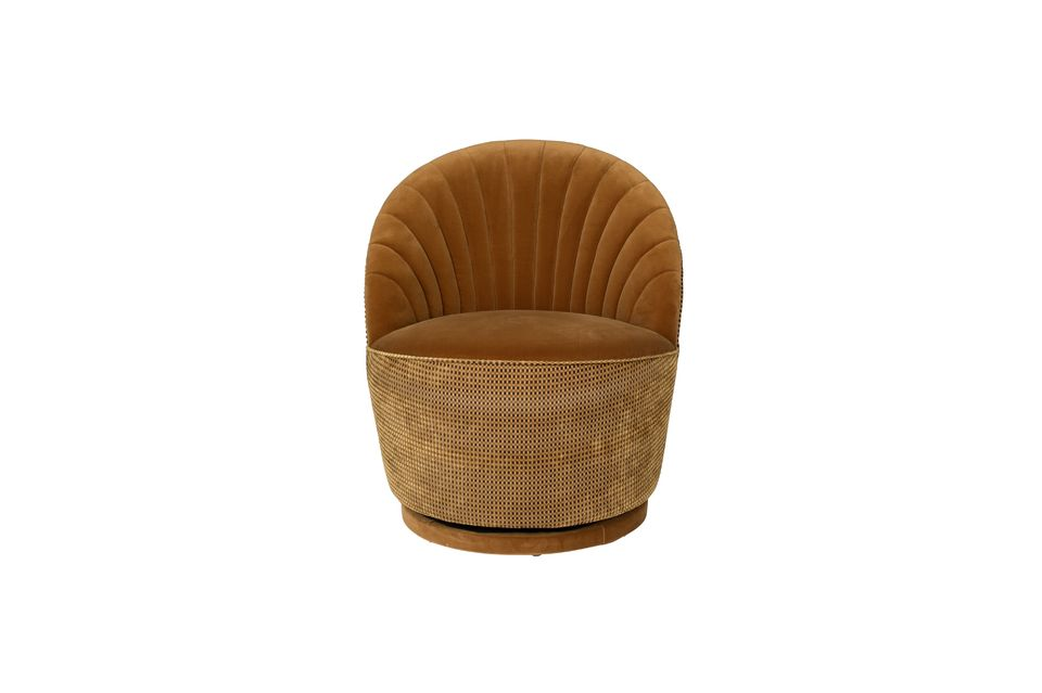 Fauteuil lounge Madisson couleur whisky - 11