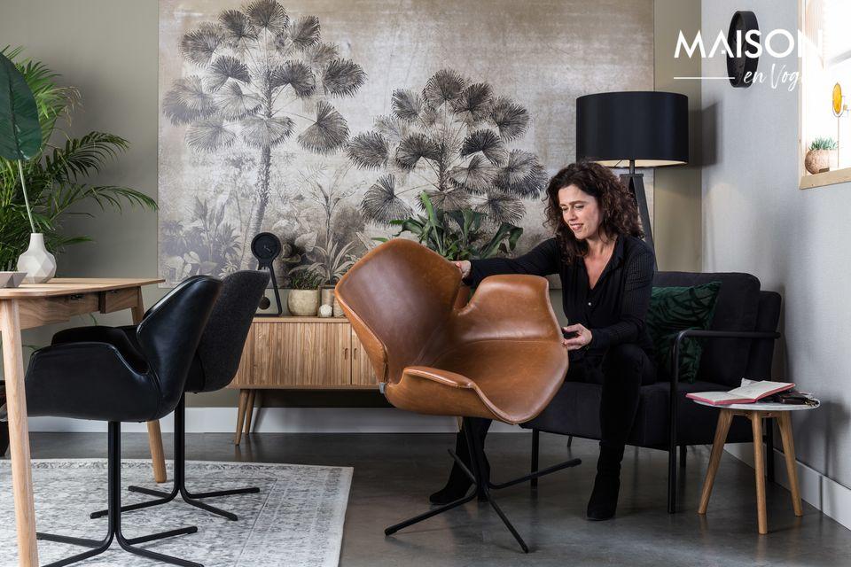 Des influences vintage pour un fauteuil contemporain