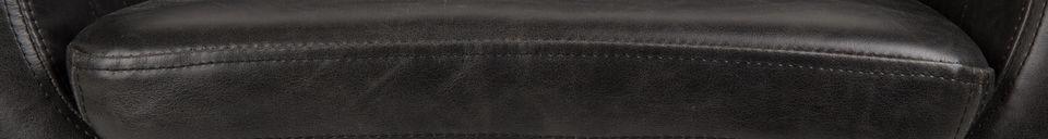 Mise en avant matière Fauteuil Pike Noir