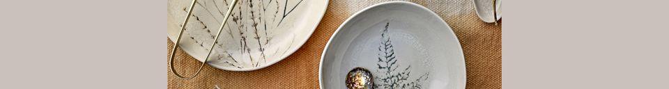 Mise en avant matière Grande assiette Bea nature en grès