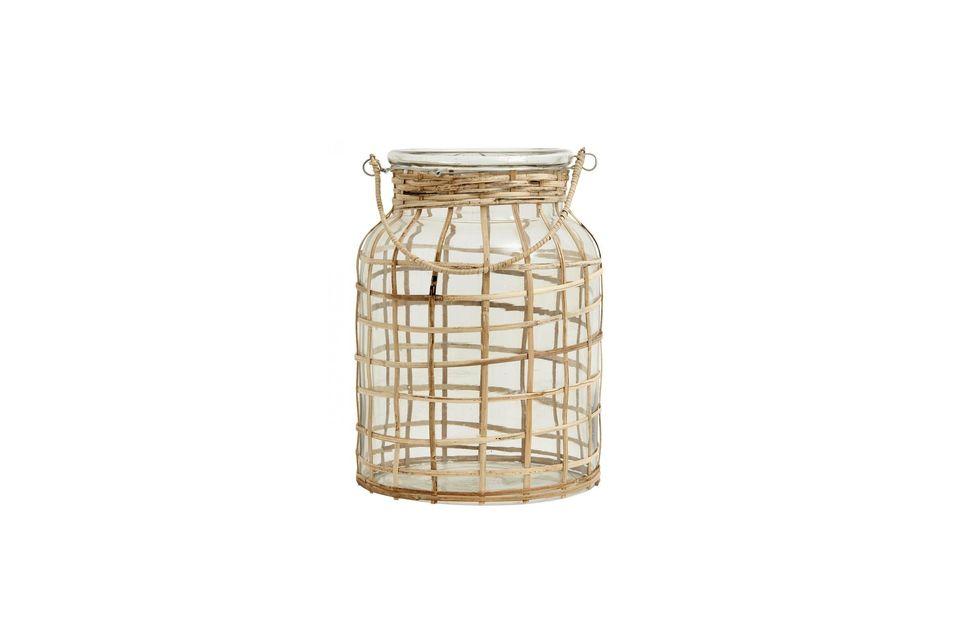 L\'aspect tressé de la lanterne permettra de projeter une lumière originale