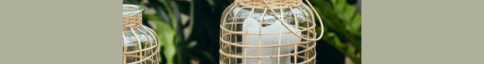 Mise en avant matière Grande Lanterne Bambou