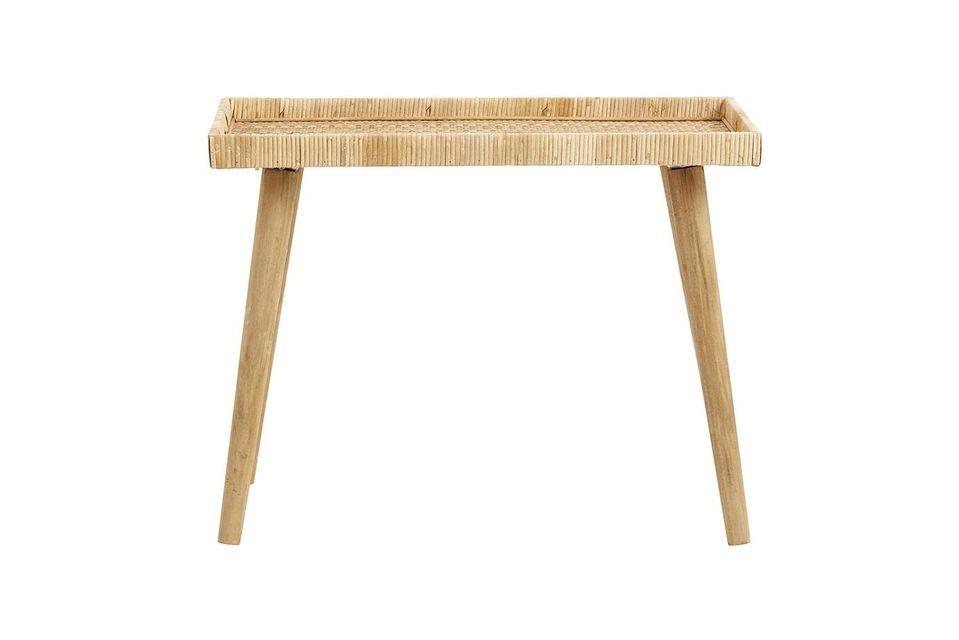 Grande table Turn en rotin