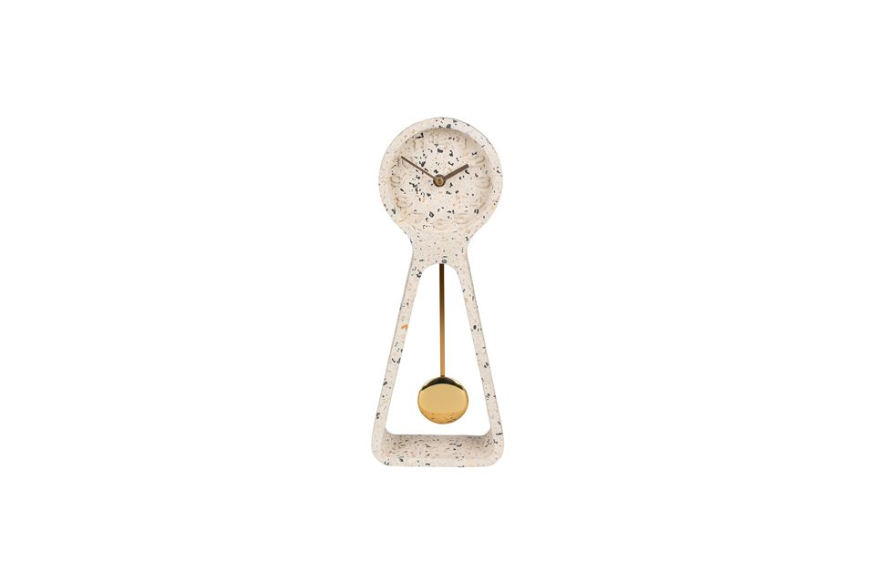 Horloge à balancier Time terrazzo blanche - 9