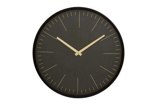 Horloge murale Onyx noir et or Détouré
