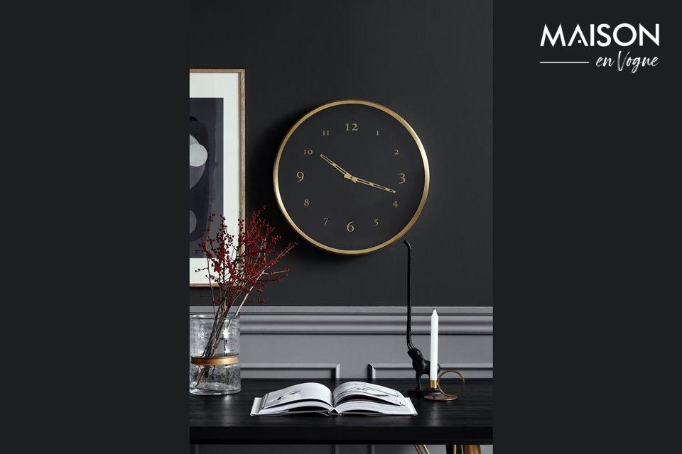 Horloge murale Saisy en métal Nordal