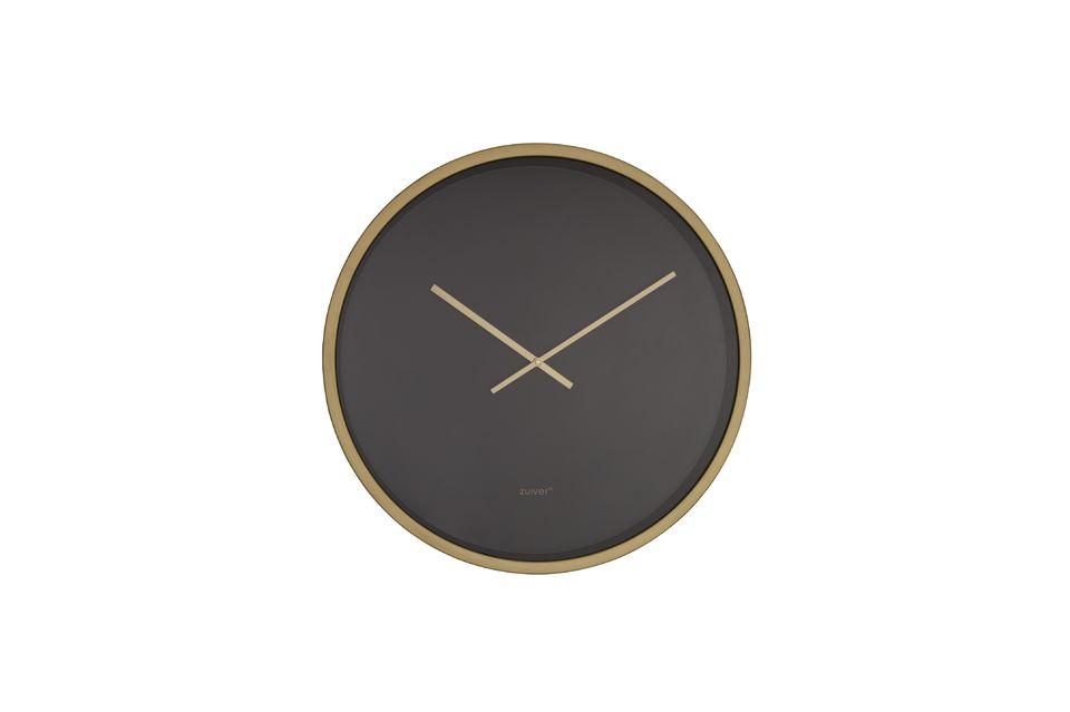 L\'horloge Time Bandit noir / laiton propose un design simple mais efficace