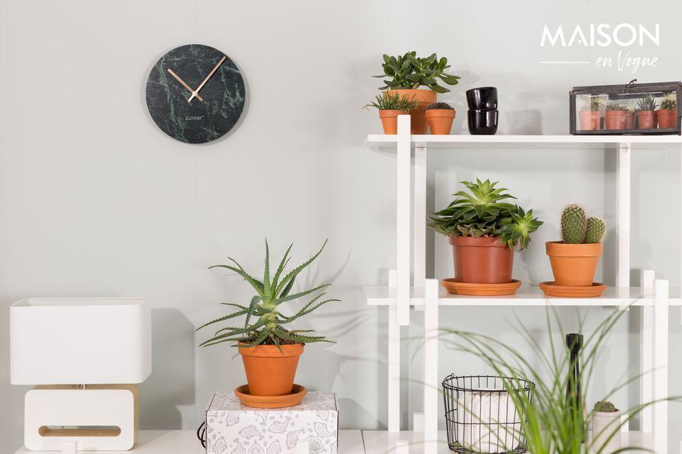 Horloge Time en marbre vert Zuiver