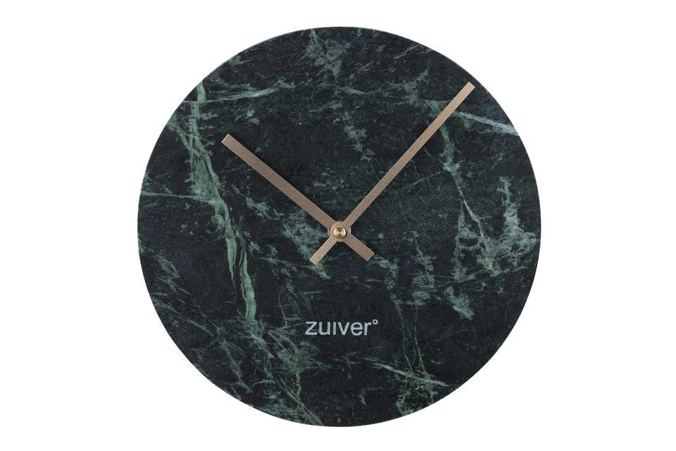 Horloge Time en marbre vert - 4