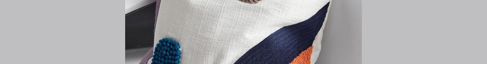 Mise en avant matière Housse de coussin en coton Lines