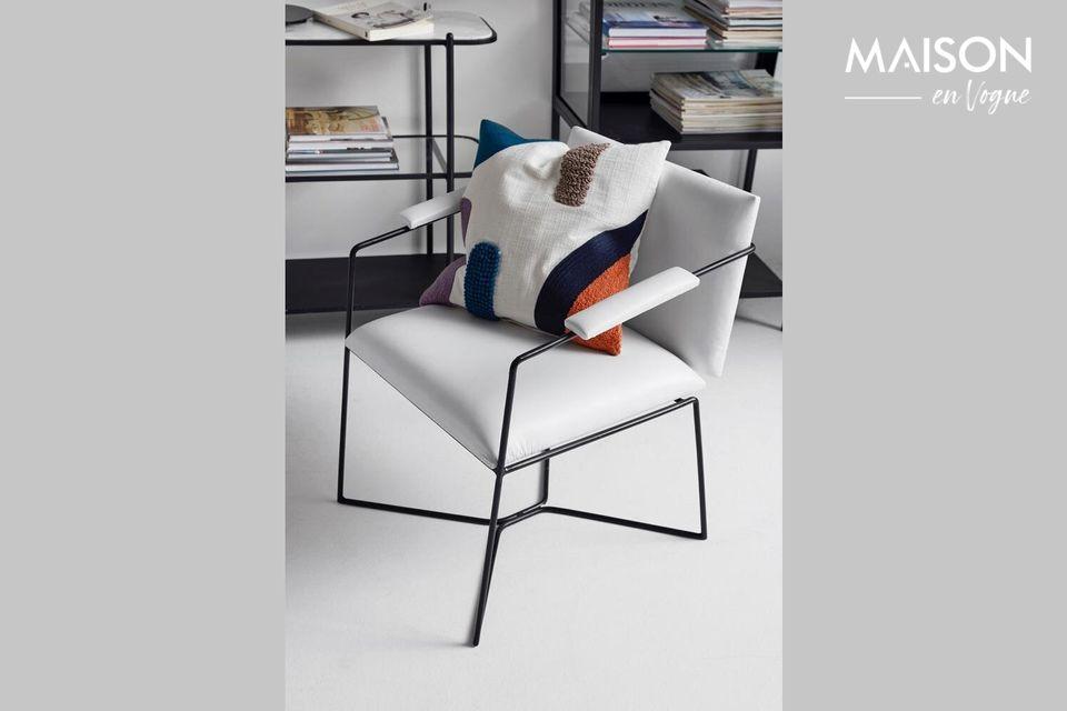 Une housse de coussin moderne au design artistique et original