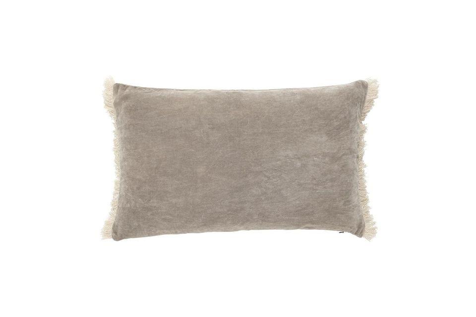Housse de coussin Sablons en velours gris