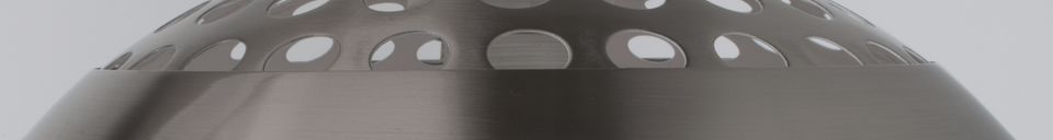 Mise en avant matière Lampadaire en métal Bow