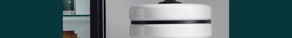 Mise en avant matière Lampadaire Icon noir et blanc en verre et fer