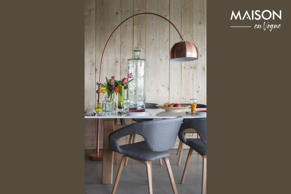 Lampadaire Metal Bow Cuivre Zuiver
