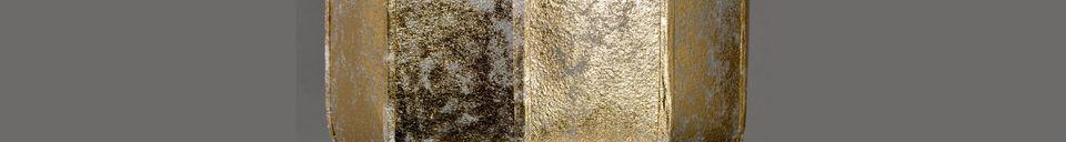 Mise en avant matière Lampadaire Suoni Gold