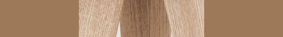 Mise en avant matière Lampadaire Trépied Wood White