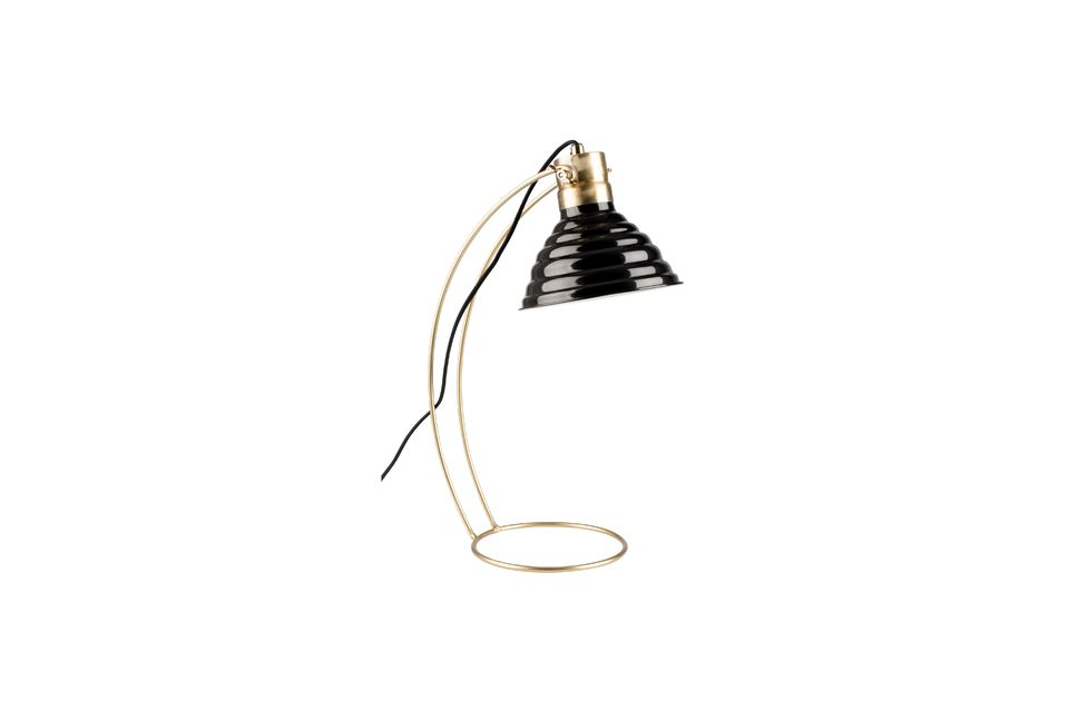 Lampe de bureau Curly noire White Label