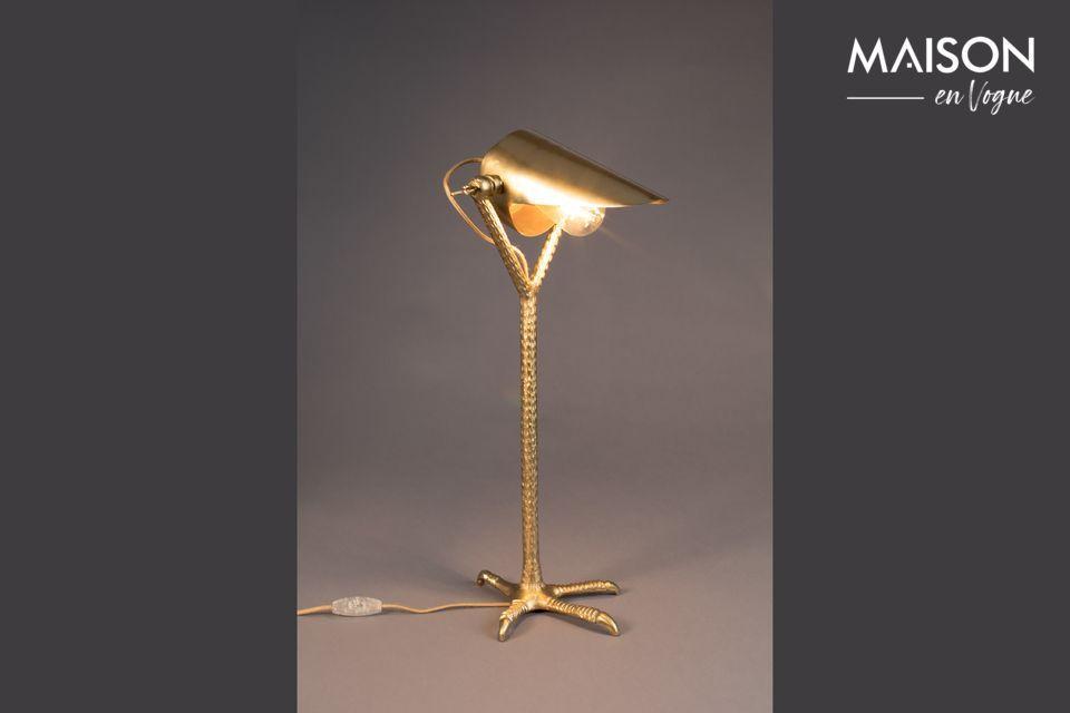 Lampe de bureau Falcon en laiton - 6