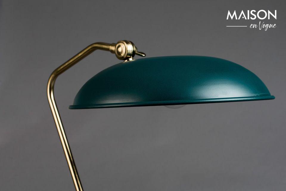 Lampe de bureau Liam bleu canard - 3