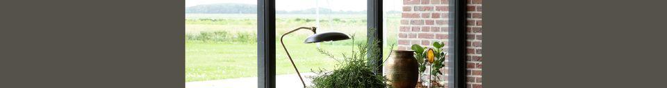 Mise en avant matière Lampe de bureau Liam Noire