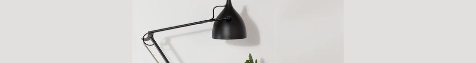 Mise en avant matière Lampe de bureau Reader Noir Mat