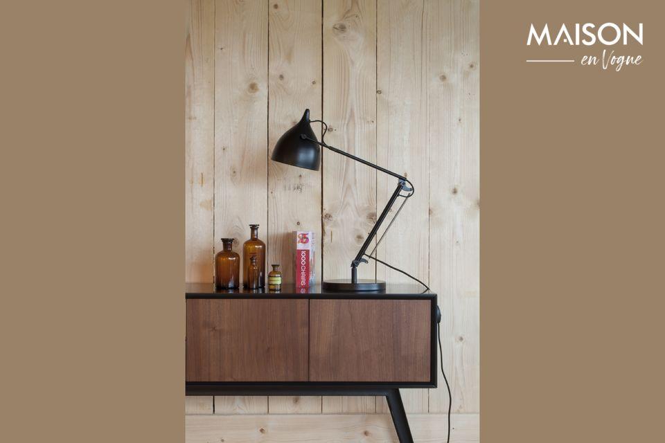 La lampe de bureau Reader noir mat dispose d\'une structure métallique fixée sur une base arrondie