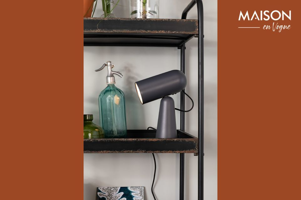 Lampe de bureau Vesper coloris gris foncé