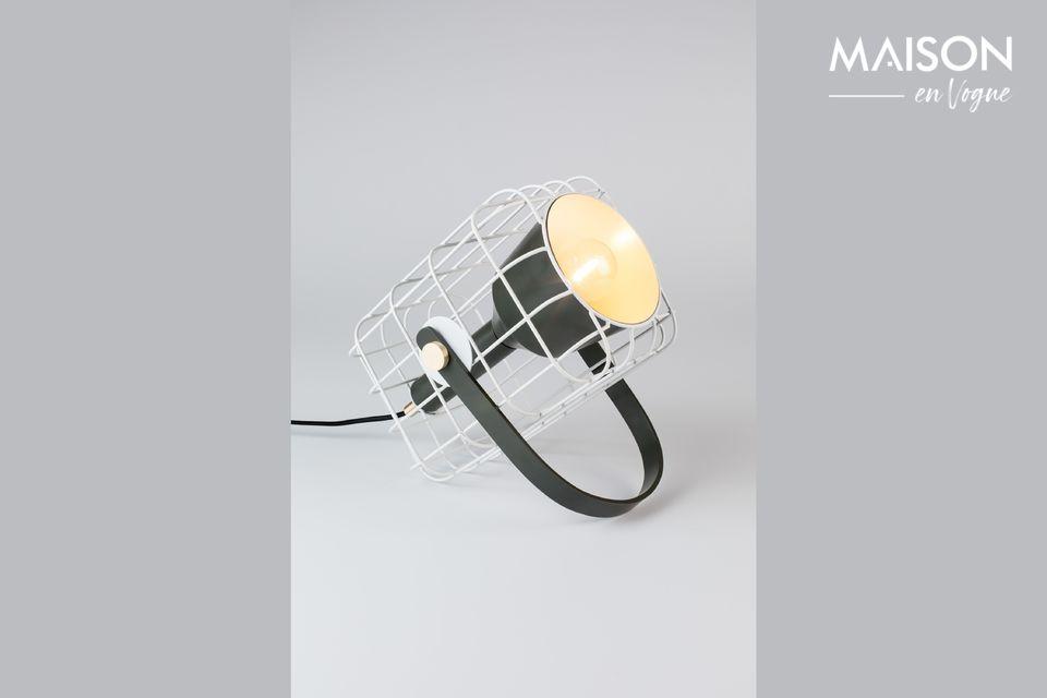 Lampe de table Cage blanche White Label