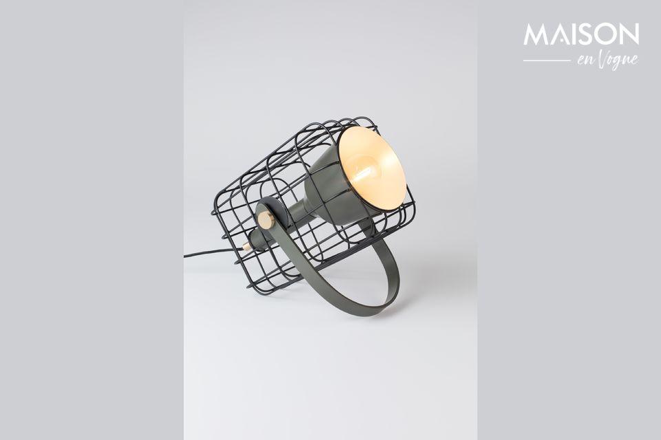 Une lampe à poser industrielle