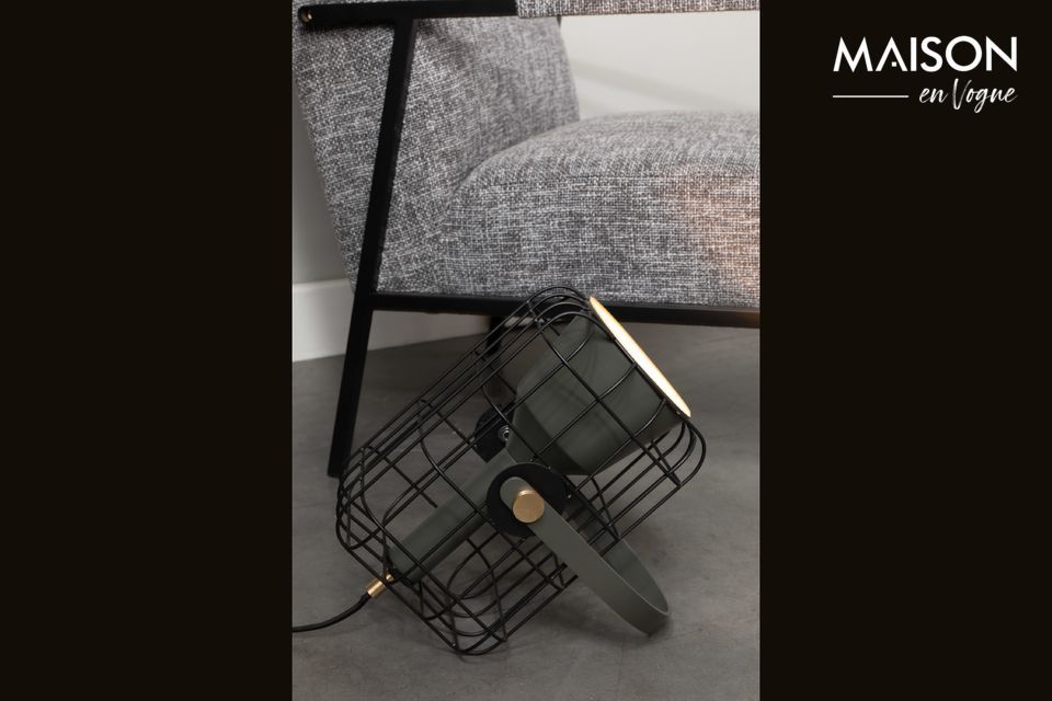 Lampe de table Cage noire White Label