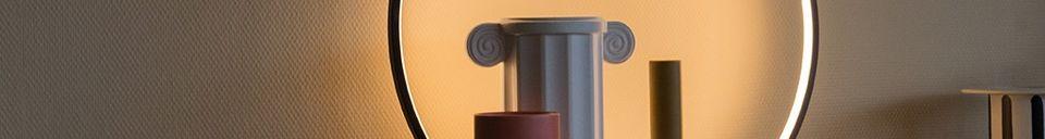 Mise en avant matière Lampe de table Collat ronde