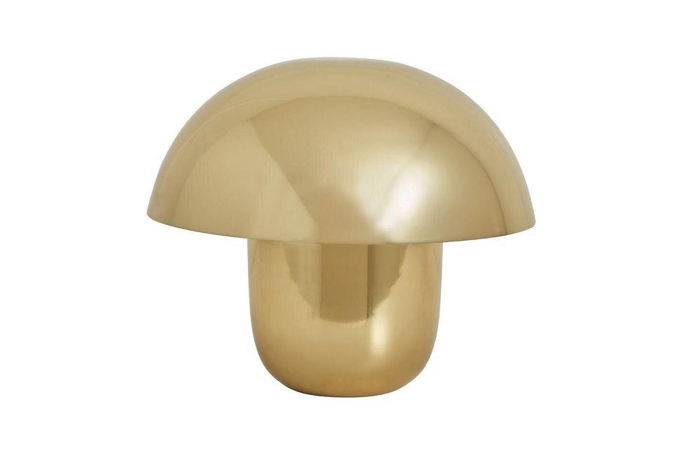 Lampe de table Focus en métal doré Nordal