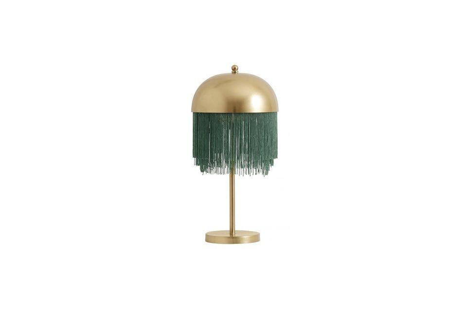 La perfection faite lampe, en vert et or