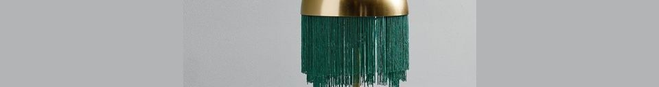 Mise en avant matière Lampe de table Fringes