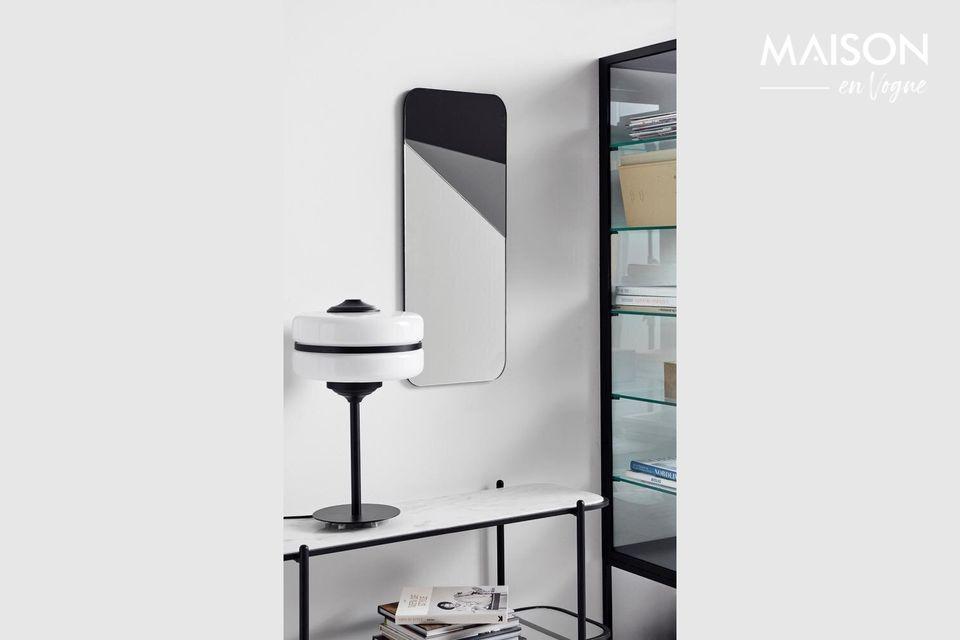 Lampe de table Icon en verre et fer