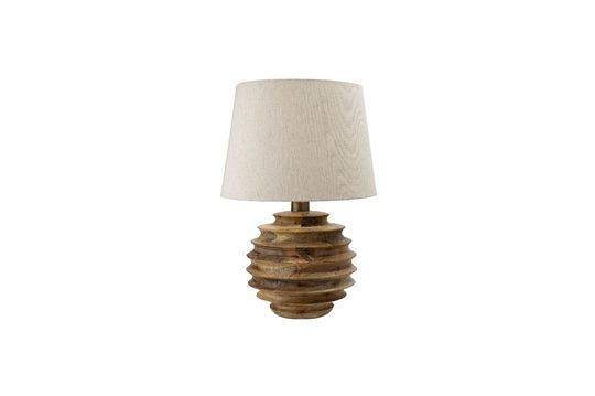 Lampe de table Magny en bois de manguier