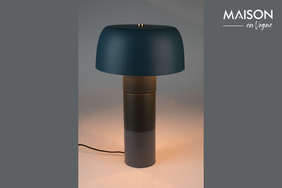 Lampe de table Muras Tricolore bleue White Label